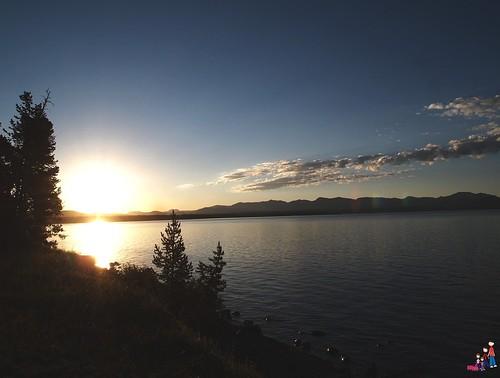 Sunrise over Lake Yellowstone