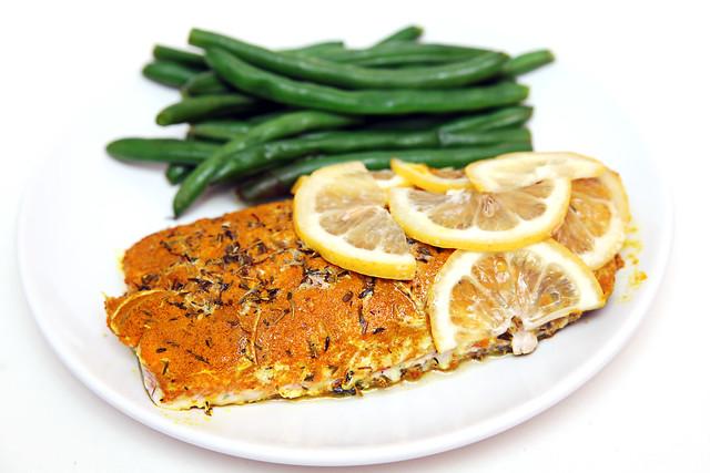 Baked Lemon Turmeric Salmon
