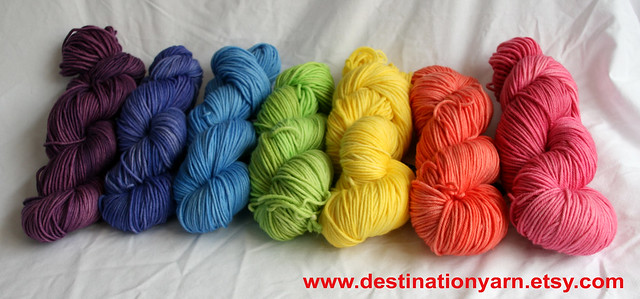 Rainbow of Spring Colorways