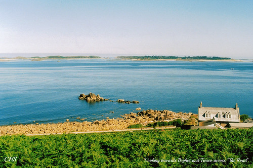 "Looking towards Bryher and Tresco across ""The Road""    35mm, 1999 by Stocker Images"