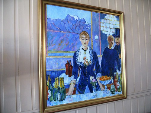 Painting by Tove Hov, Sigerfjord, Arctic Norway