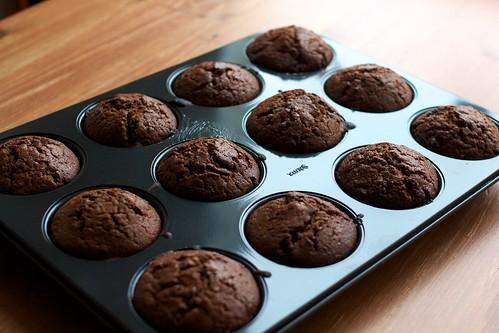 Muffin με καρδιά σοκολάτας