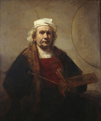 Painting: Rembrandt, Portrait of the Artist