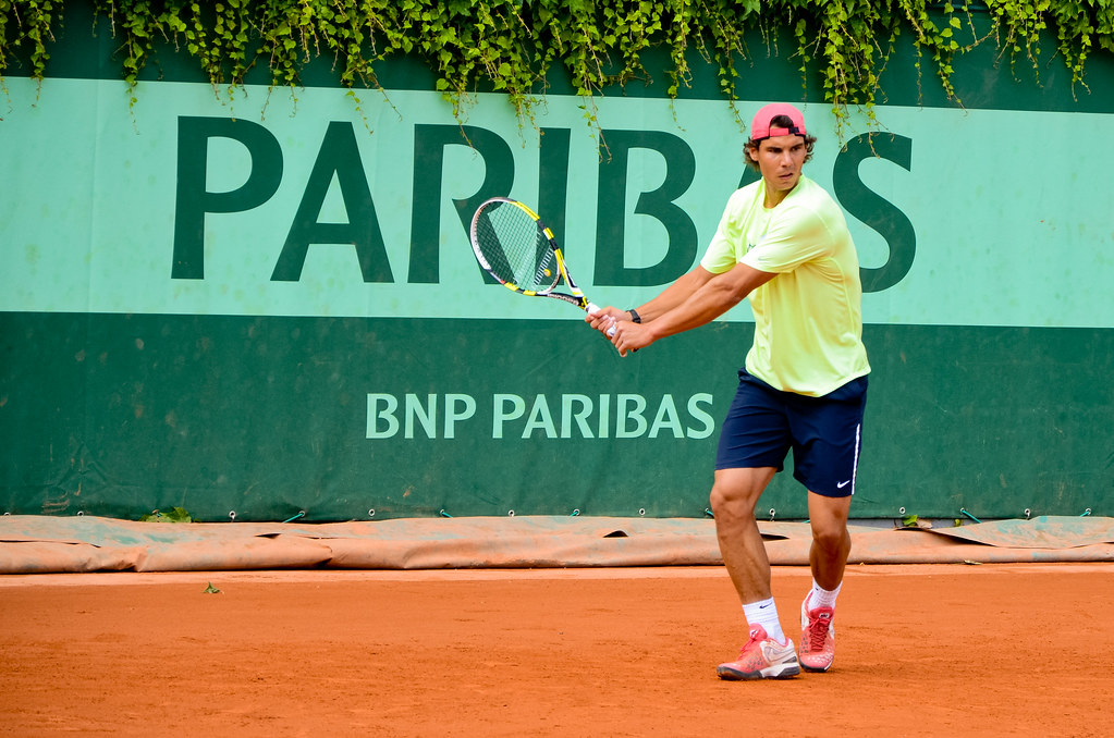 Rafael Nadal à l'entraînement