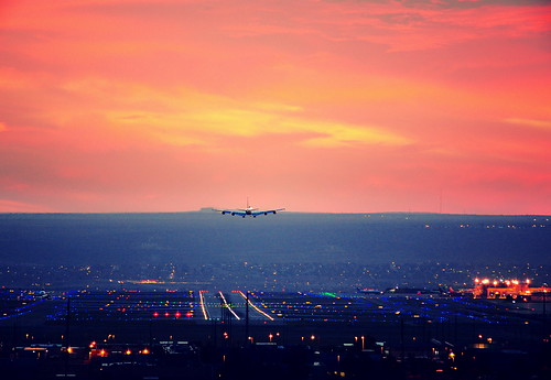 sunset newmexico plane airport nikon dusk albuquerque landing boeing 707 runway tamron200500 kabq d700 e6mercury