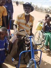 Isaac Aden. Isaac and his son Abdullahi benefited from the wheelchairs that AFSC distributed to the persons living with disabilities in Dadaab refugee camps. Photo: John Bongei/AFSC