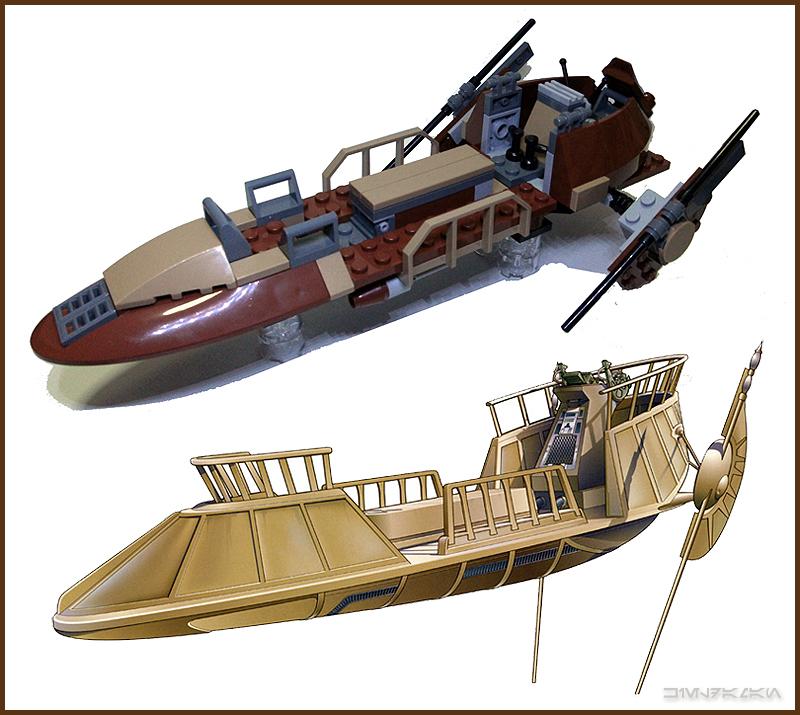 lego desert skiff