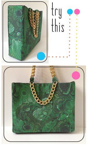 Try This - Malachite and Gold Shoulder Bag