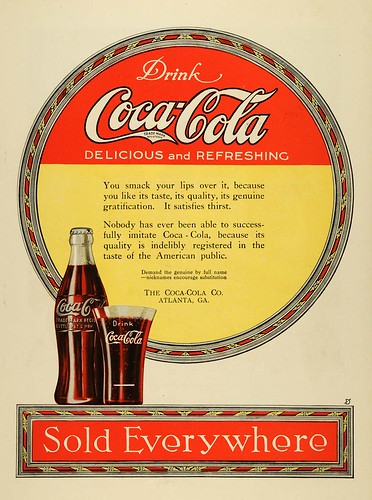 1919 Ad Coca Cola Polychromic part of hobble skirt bottle launch Atlanta Georgia news paper ad by roitberg