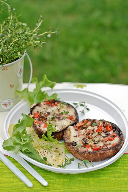 grillitud portobellod/grilled portobello mushrooms