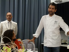 Paco Roncero en la cena en la Terraza del Casino de Madrid