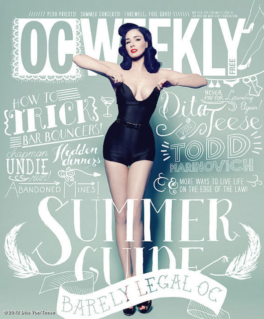 dita von teese oc weekly cover