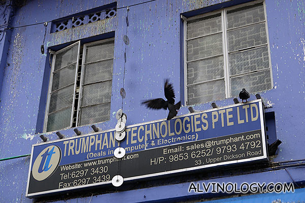 A technology firm on a second floor unit