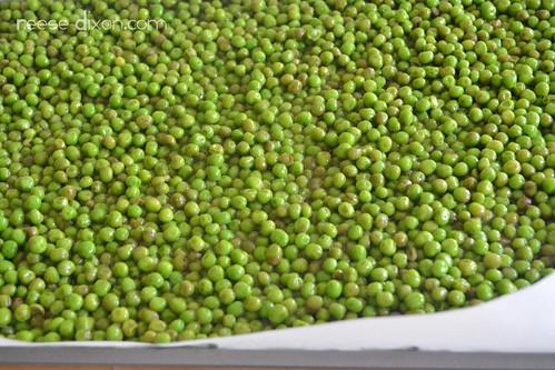 Roasted Peas prep