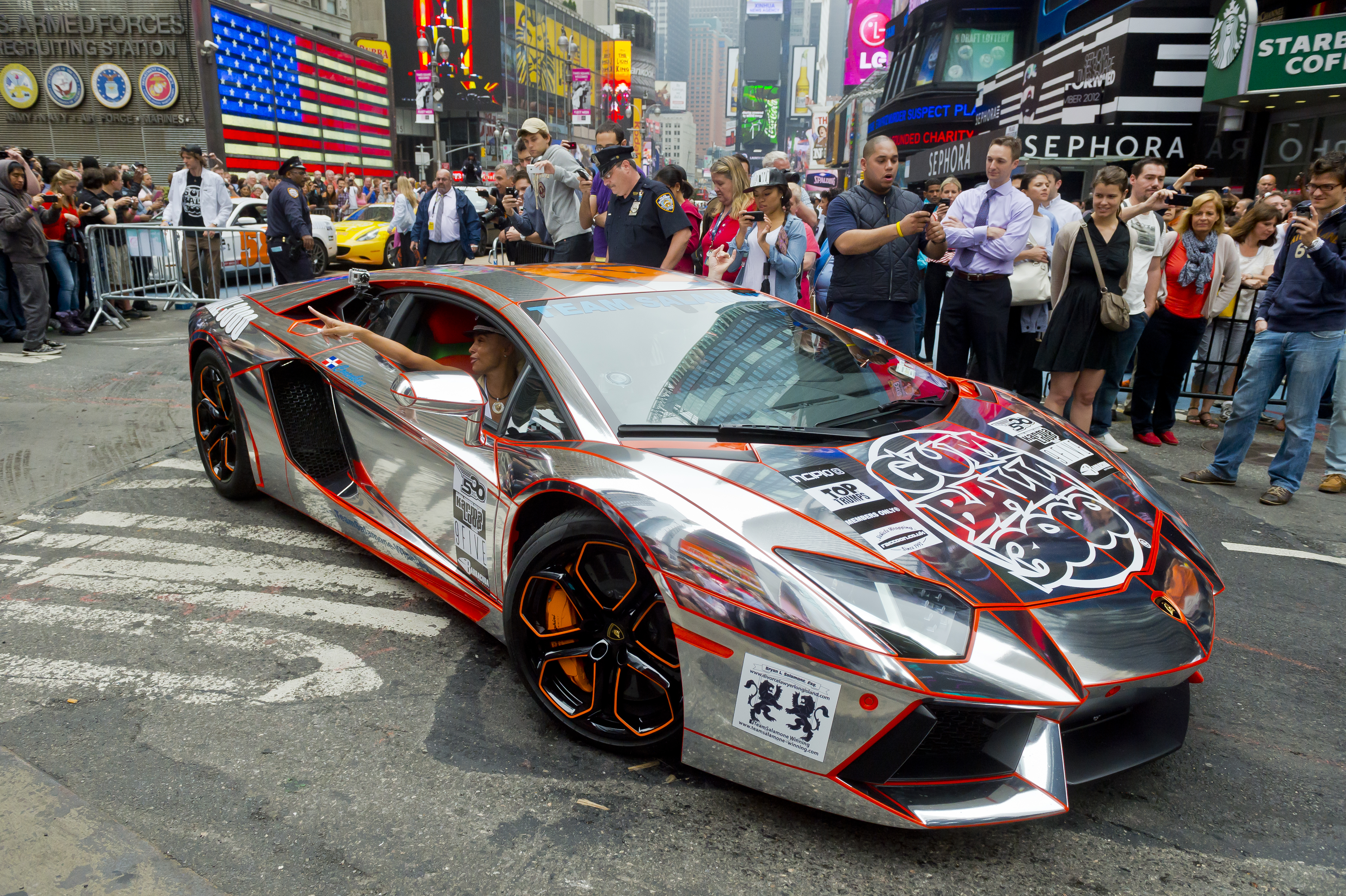Gumball 3000 2012 - Team Salamone Lamborghini Aventador ...