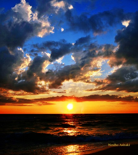blue sunset sky usa sun clouds sunrise mexico shine gulf florida wave fl rise seas bocagrande 33921 mexicogulf nesiho bocagrnade