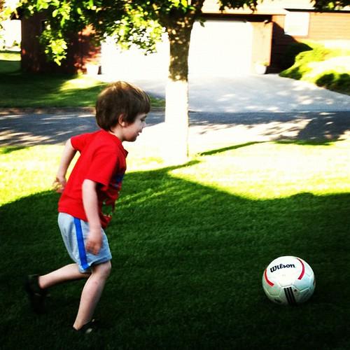 May 28. Soccer.