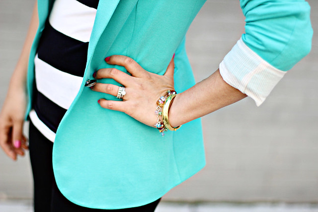 mint zara blazer jacket
