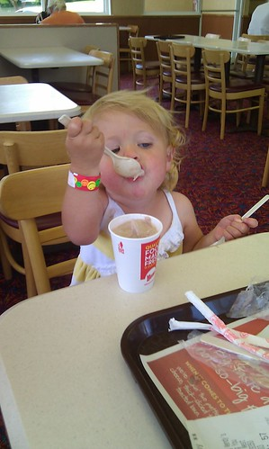 Caroline, two spoons and a jr frosty! by sweet mondays