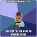 Subscribes to newsletters does not click here to unsubscribe - Success Kid | Meme Generator