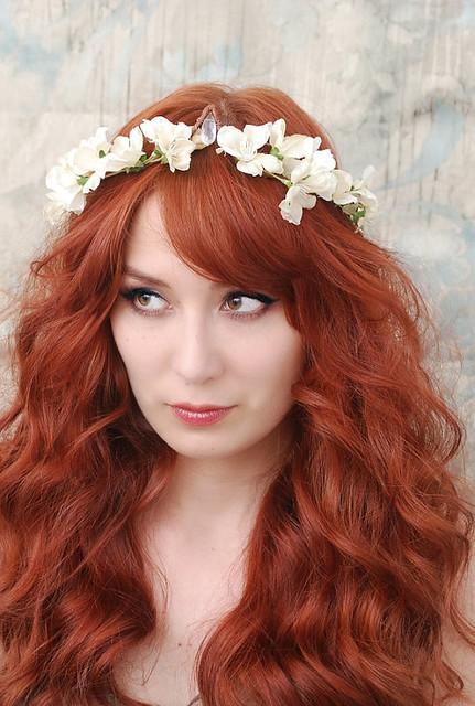 Lelia's crown-ivory floral crown