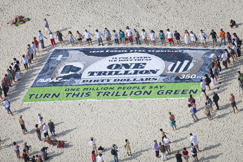Copacabana action to end fossil fuel subsidies