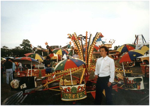 Children's Waltzer ride at the Hoppings, 1990