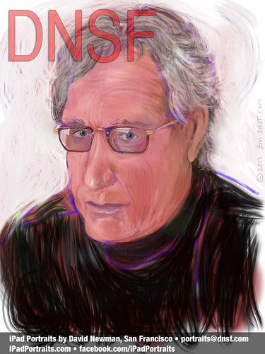 iPad Portrait of Rand Schulman, New Marketing & Media Pioneer by DNSF David Newman