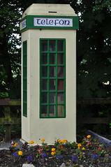An old fashioned, coin-operated, Irish Telephone Box - Broadford, Co. Kildare, Ireland