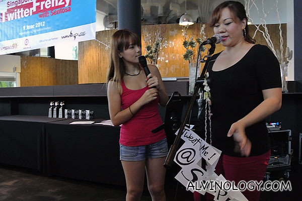 Host Silver, chatting with singer, Shimona