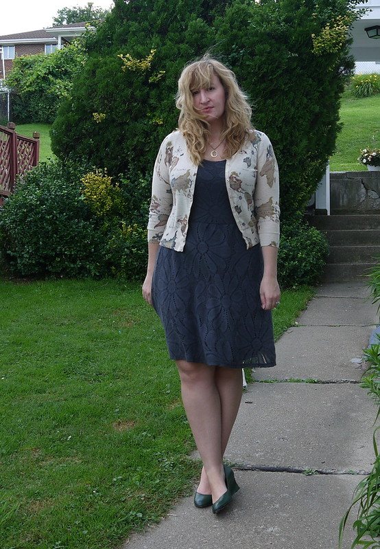 fluttering flora dress
