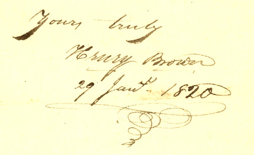 Signature of Henry Brown, 1820, Dayton, Ohio by Dayton Metro Library Local History, on Flickr