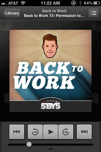 Podcasts player screen