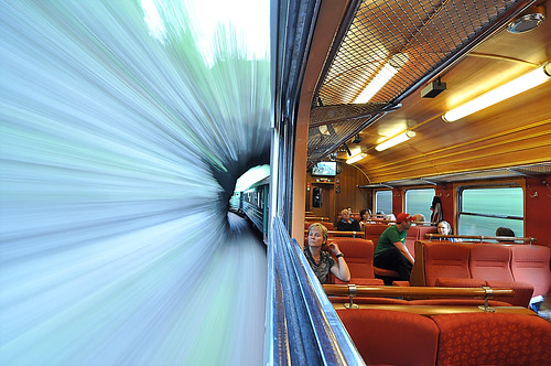 Riding the Flam railway in Norway by Robert-Paul