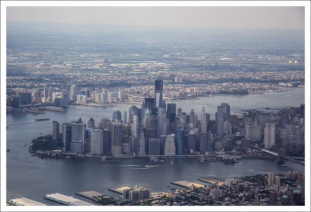 2012-07-03 Lower Manhattan From The Air Over Brooklyn