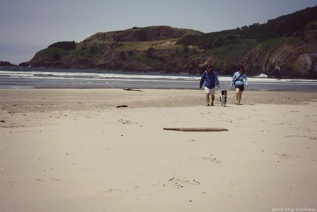 beach combing.