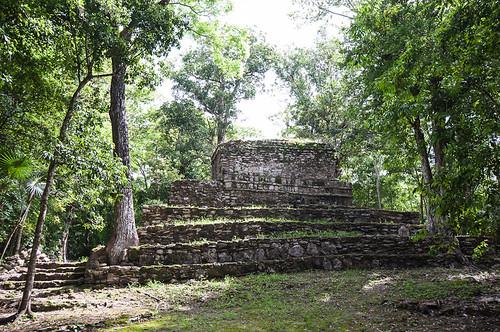 Las ruinas mayas de Muyil en Sian Ka'an