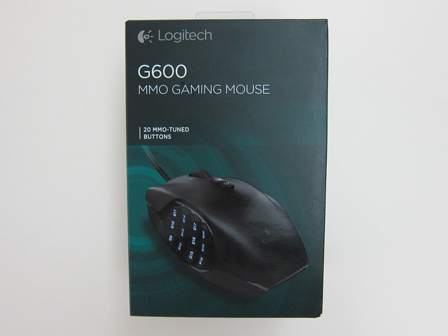 Logitech G600 MMO Gaming Mouse - Box Front