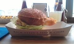 Fish chilli burger