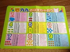 100円ショップの九九シート