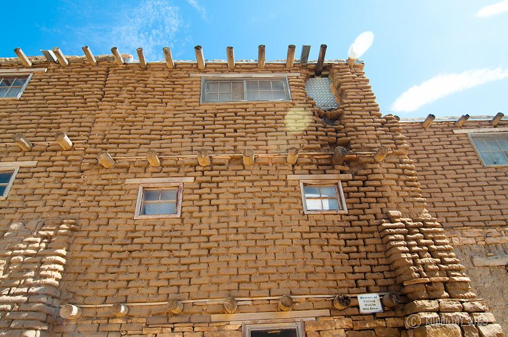 Acoma Pueblo mud brick building