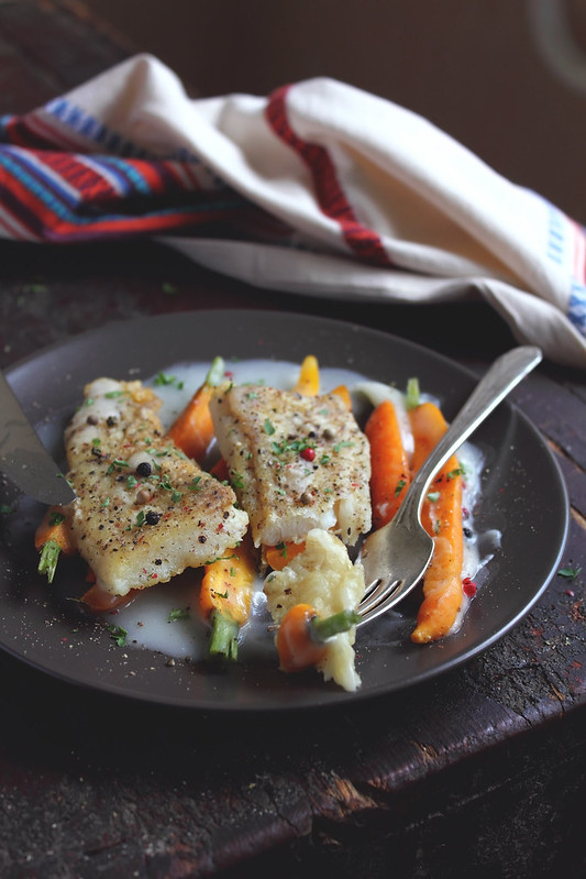 Fish with Caramelized Carrots