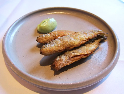 Main Fishes with Green Sauce Dip at Villa Merton in Frankfurt