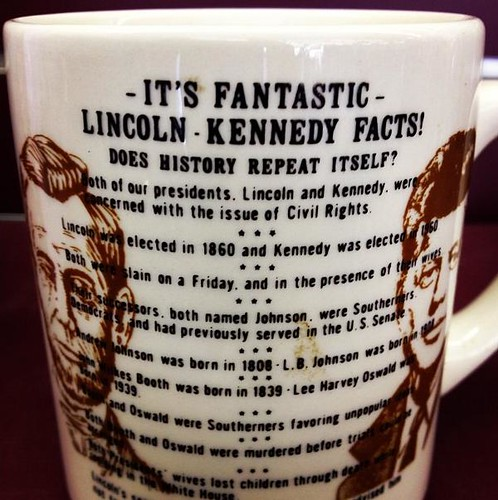Lincoln and Kennedy coincidence mug