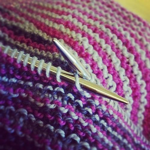 Striping away. #knitting