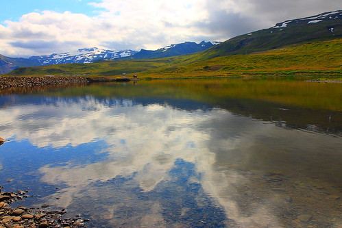 clouds reflections landscape iceland scenery icelandic