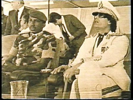Capt. Thomas Sankara of Burkina Faso and Col. Muammar Gaddafi of Libya. The two revolutionary leaders sought to build African unity and socialism. by Pan-African News Wire File Photos