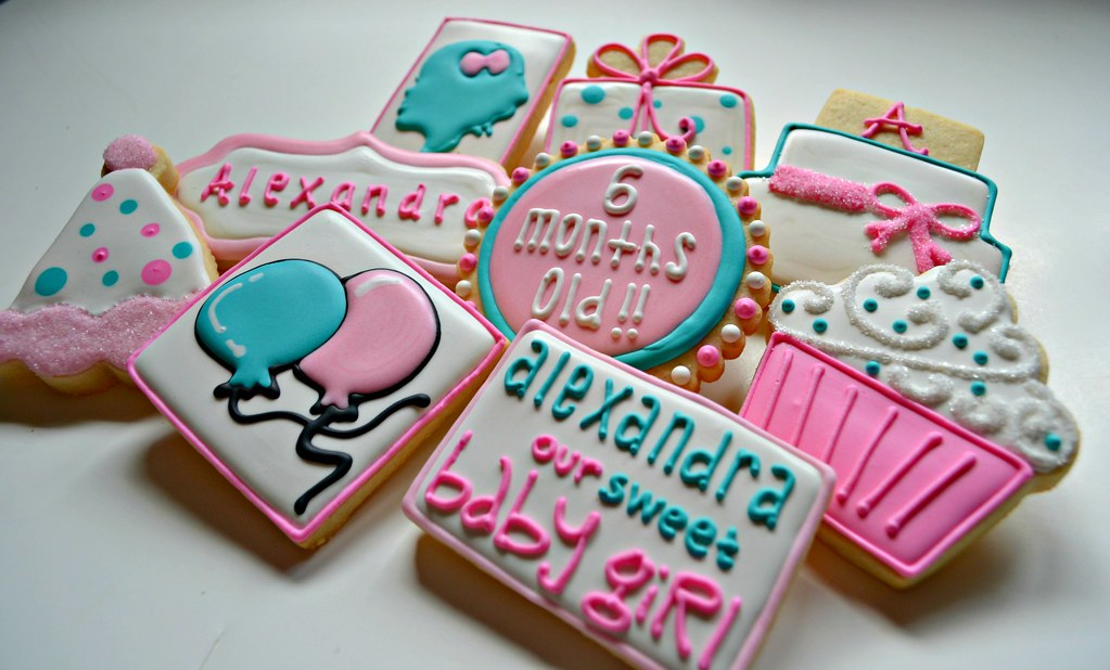 By Custom Cookies Jill Happy 1 2 Birthday Alexandra