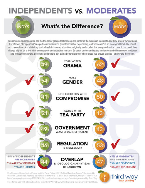 Independents vs. Moderates: What's the Difference?