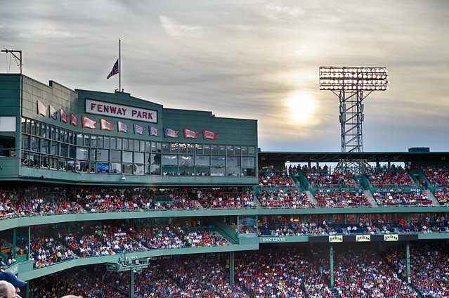 Sun Setting at Fenway (HDR) from Flickr via Wylio